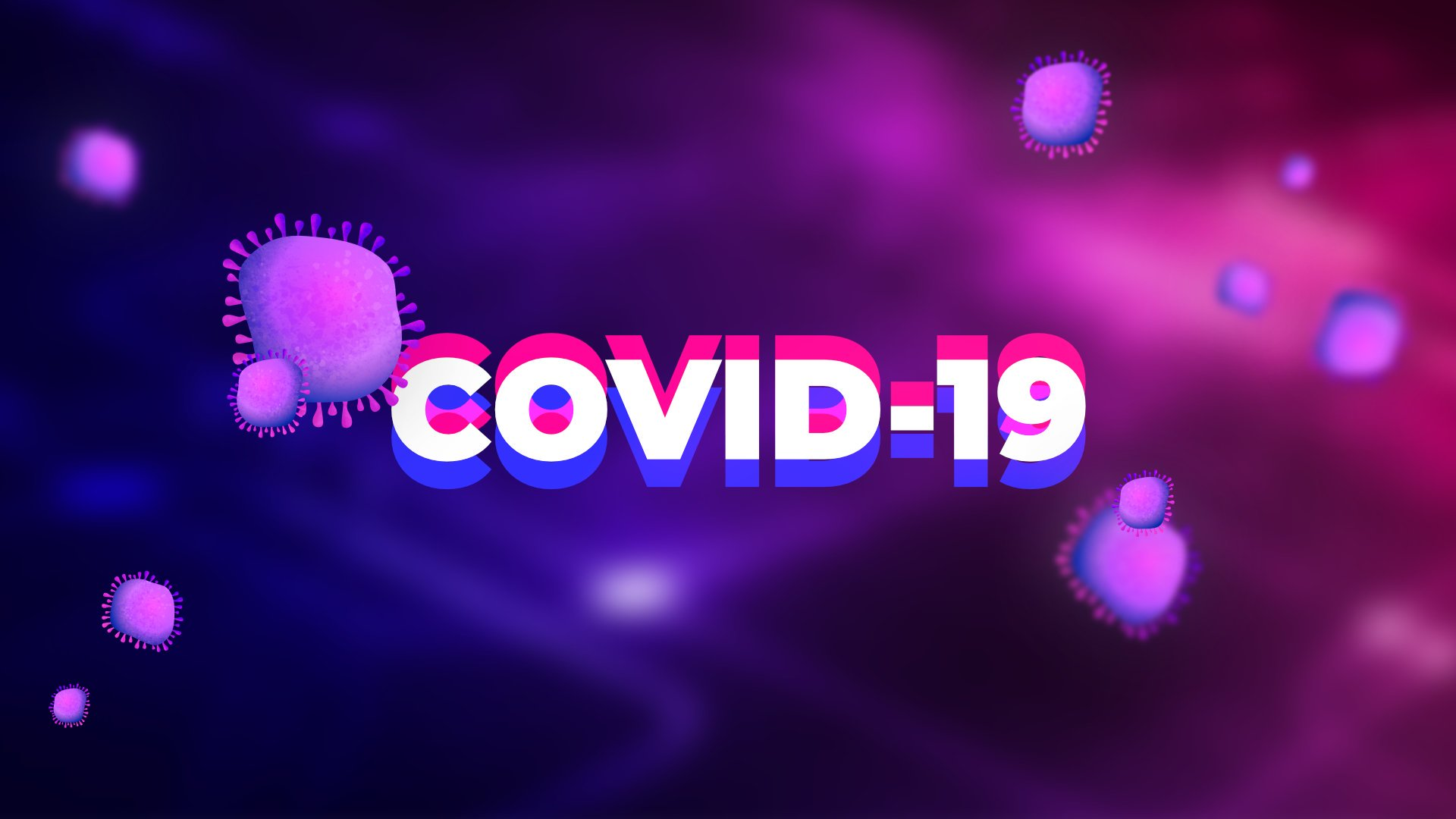 2020People The inscription COVID 19 coronavirus on a purple background 142387